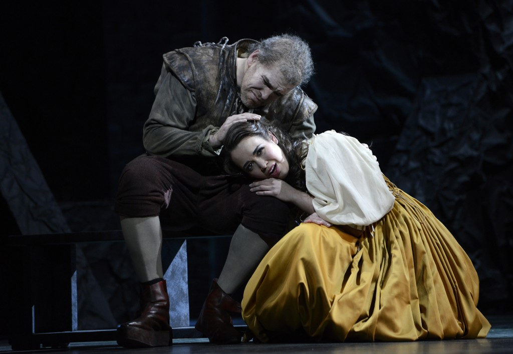 Michael Mayes as Rigoletto and Nadine Sierra as Gilda; Photo by Eric Antoniou for Boston Lyric Opera