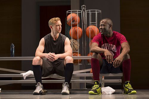 Roderick Hill as Brian White and McKinley Belcher III as Jackson Moore in Smart People. Photo: T. Charles Erickson