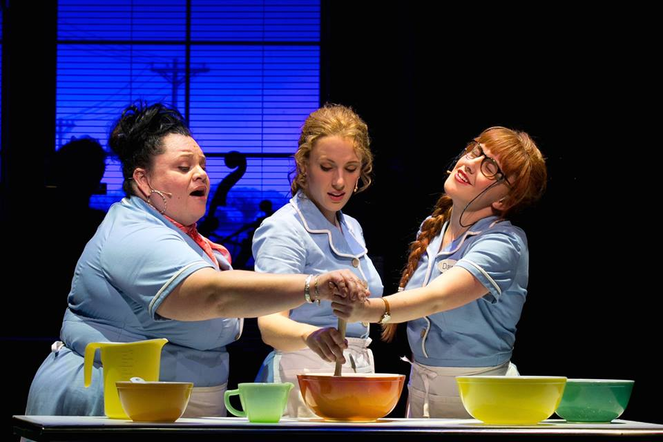 Keala Settle, Jessie Mueller, and Jeanna de Waal in Waitress. Photo: Evgenia Eliseeva