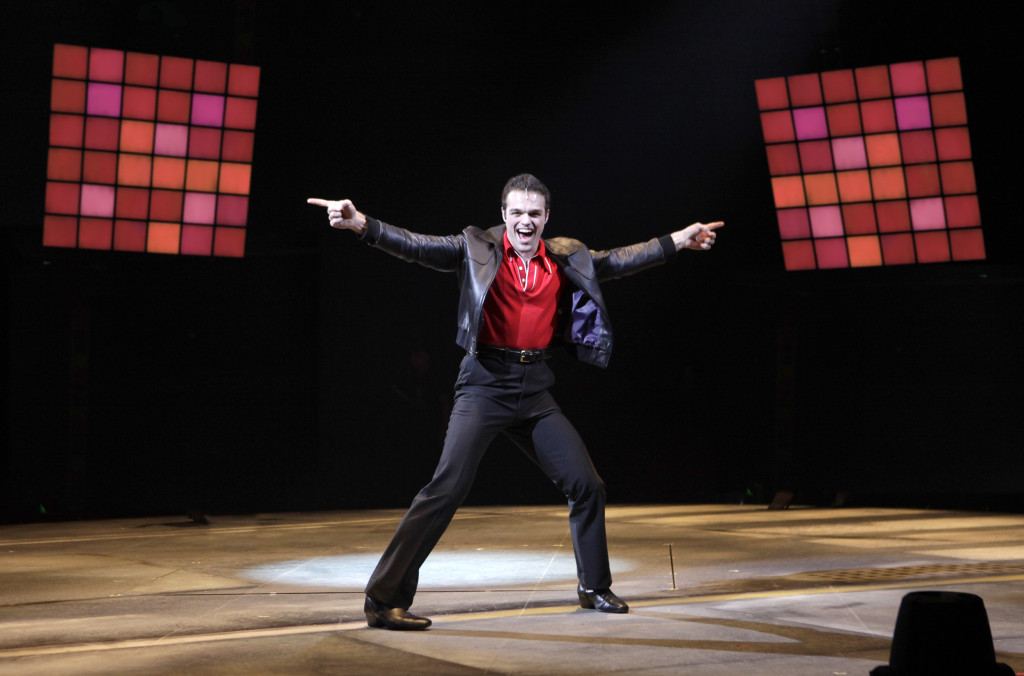 Sam Wolf as Tony Manero in SATURDAY NIGHT FEVER The Musical playing at North Shore Music Theatre August 11 - 23, 2015. Photo © Paul Lyden
