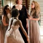 Medea with Chorus, L to R: Sarah Newhouse*, Obehi Janice, Jennie Israel* & McCaela Donovan © 2012 Stratton McCrady Photography