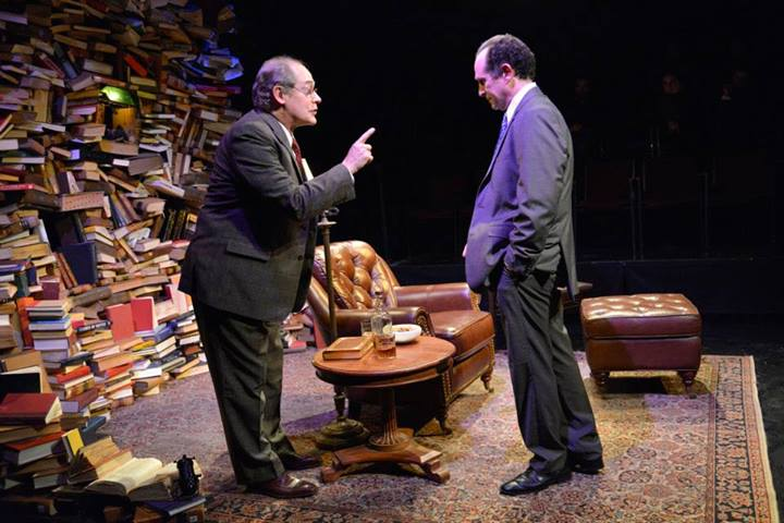 Joel Colodner as Solomon Galkin and Jeremiah Kissel as Bernard Madoff in IMAGINING MADOFF by Deborah Margolin. Photos by Andrew Brilliant / Brilliant Pictures
