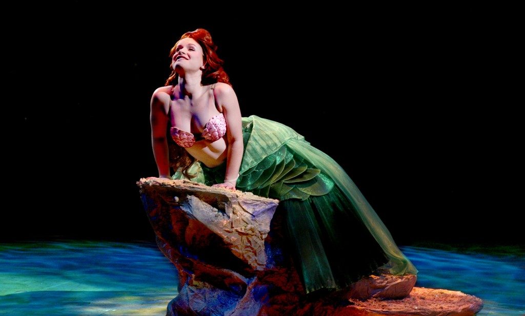 Adrienne Eller as Ariel in North Shore Music Theatre's Production of Disney's THE LITTLE MERMAID running July 8 - 27, 2014. Photo©Paul Lyden