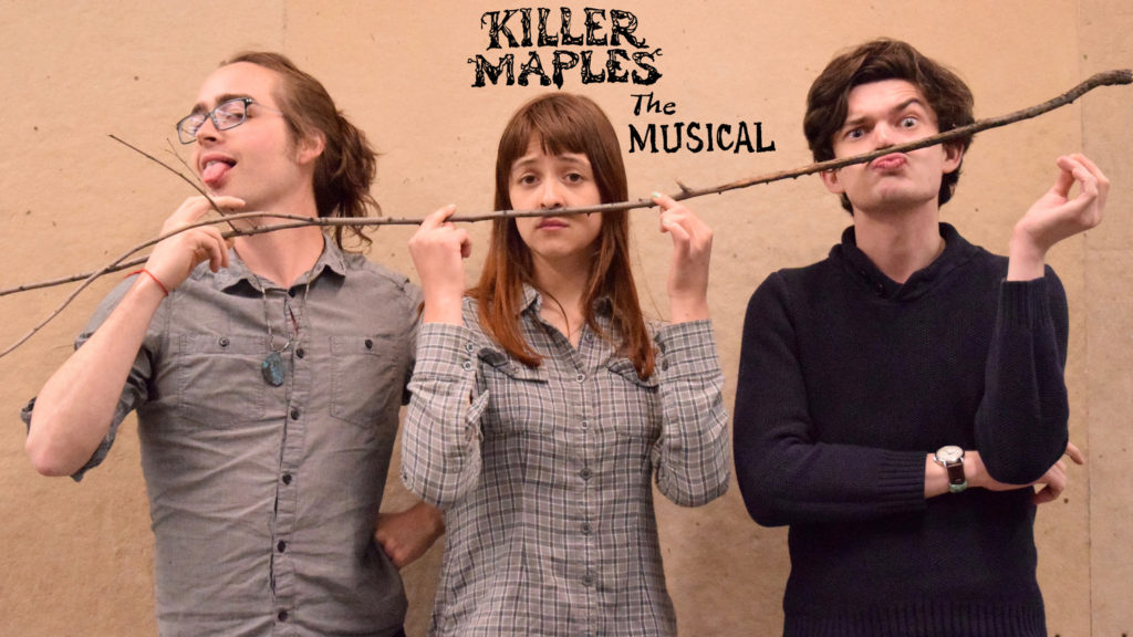 "The Cast of ""Killer Maples,"" photo via http://www.yellingmantheatre.com/"